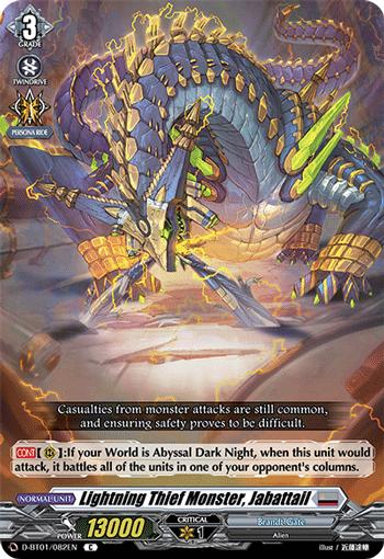 Lightning Theif Monster, Jabattail