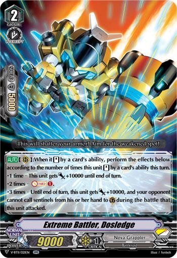 Extreme Battler, Dosledge