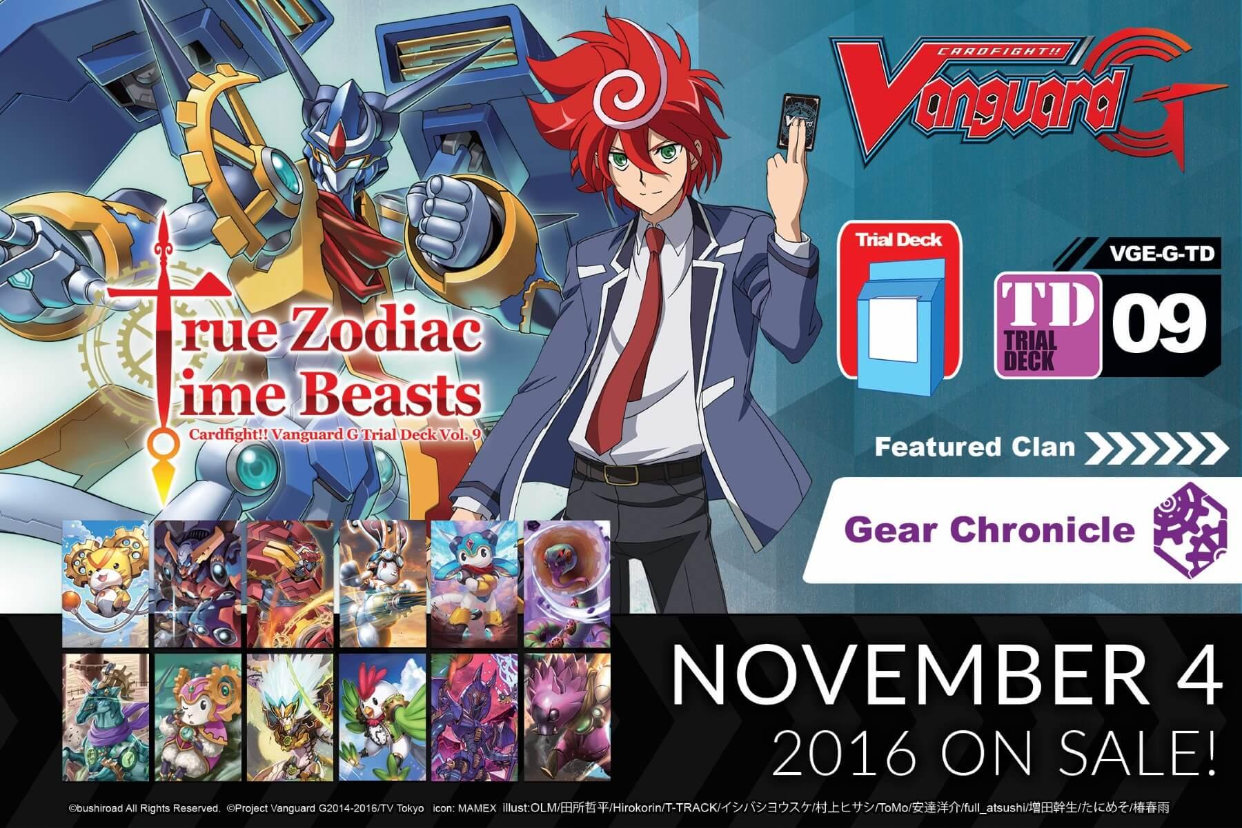 Cardfight!! Vanguard G Trial Deck Vol. 9: True Zodiac Time Beasts ...