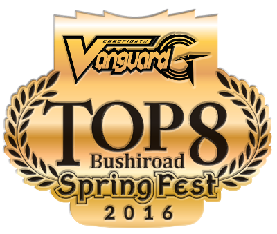 BSF2016 Cardfight!! Vanguard Top 8 Pin